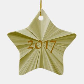 Ornamento 2017 da lembrança do ouro da estrela do