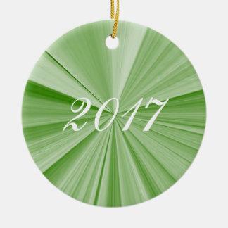 Ornamento 2017 da lembrança do verde da estrela do