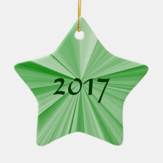 Ornamento 2017 do verde da estrela do Natal por