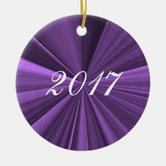 Ornamento 2017 roxo do Natal por Janz