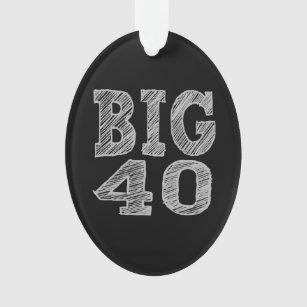 Ornamento 40 GRANDES o quadragésimo aniversário
