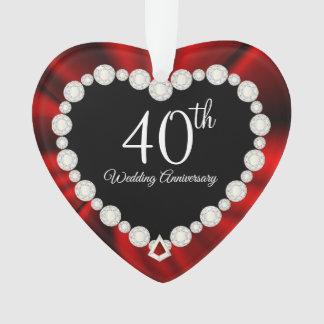 Ornamento 40th Design da lembrança do aniversário de
