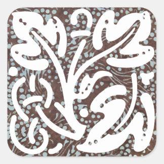Ornamento 5 do Batik de Kade Adesivo Quadrado