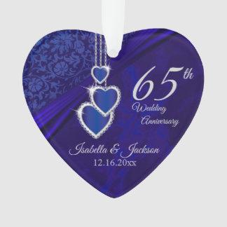 Ornamento 65th/45th lembrança do aniversário de casamento da
