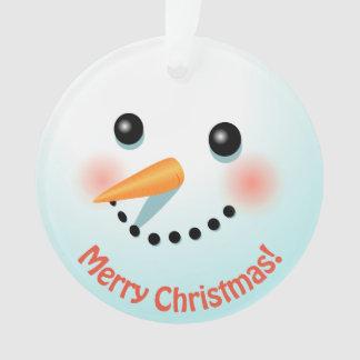 Ornamento A cabeça bonito do boneco de neve personalizada