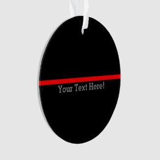 Ornamento A linha vermelha fina simbólica seu texto no preto