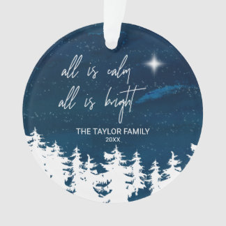 Ornamento A noite estrelado toda é calma que tudo é feriado