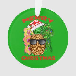 Ornamento Abacaxi do papai noel do Feliz Natal