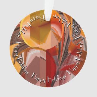 Ornamento Abstrato do dispositivo nos vermelhos e laranjas