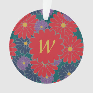 Ornamento acrílico floral da queda Splashy