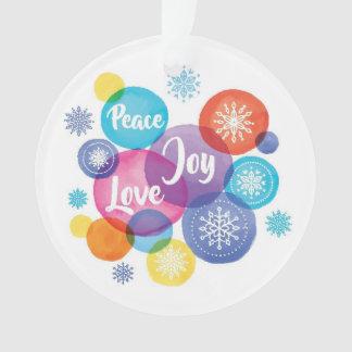 Ornamento Aguarela do Natal | - citações da alegria do amor