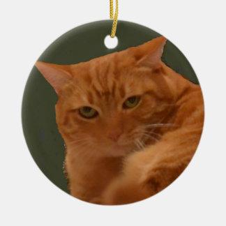 Ornamento alaranjado do gato de gato malhado