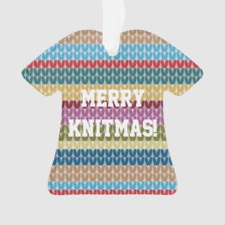 Ornamento alegre de Knitmas