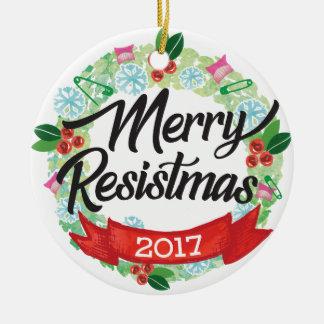Ornamento alegre do feriado de Resistmas
