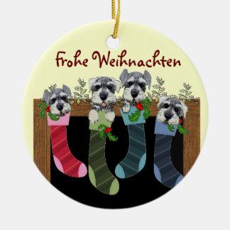 Ornamento alemão do Feliz Natal