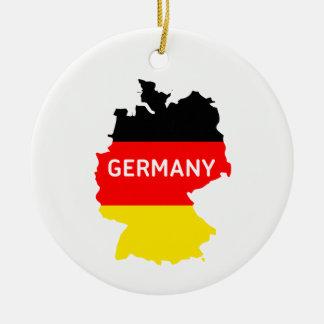 Ornamento alemão do mapa e da bandeira