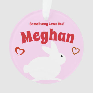 Ornamento Alguns amores do coelho você personalizou o