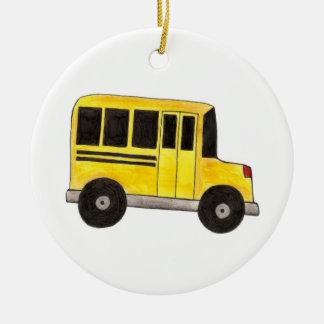 Ornamento amarelo do presente do motorista do