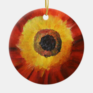 Ornamento amarelo vermelho do círculo da arte da