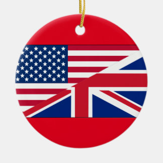 Ornamento americano & britânico do cidadão duplo