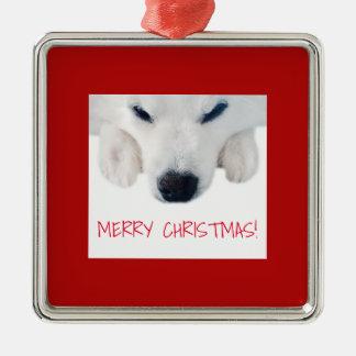 Ornamento americano do cão Eskimo/ornamento cão do
