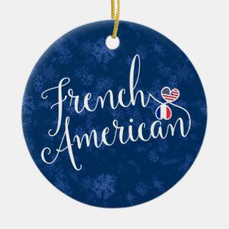 Ornamento americano francês da árvore de Natal,