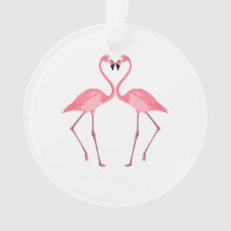 Ornamento Amor cor-de-rosa bonito dos flamingos
