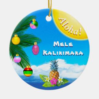 Ornamento animadores de Mele Kalikimaka, 2 tomados