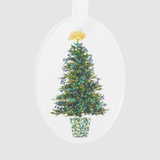 Ornamento Ano customizável da árvore de Natal dos símbolos