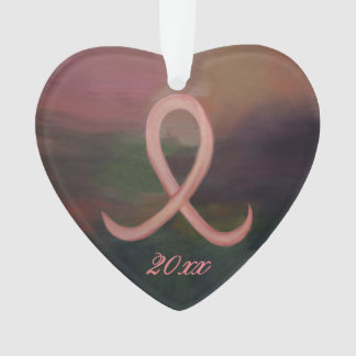 Ornamento Ano de suporte da fita do cancer do rosa da