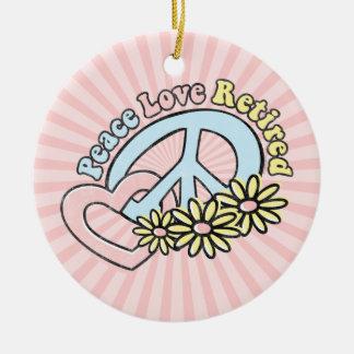 Ornamento aposentado amor da paz