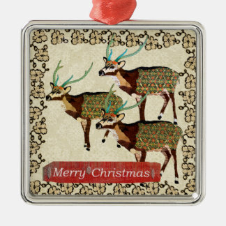 Ornamento artístico do Feliz Natal dos cervos da