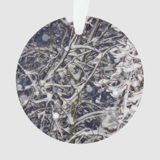 Ornamento Árvore do blizzard - foto coberto de neve dos