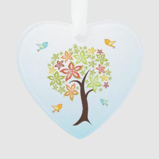 Ornamento Árvore e pássaros