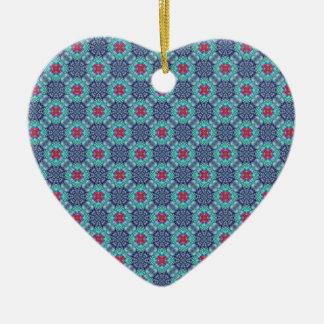 Ornamento azuis Groovy do caleidoscópio do vintage