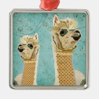 Ornamento azul das alpacas