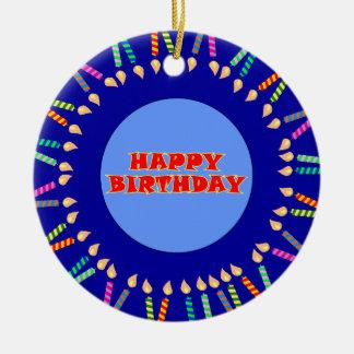 Ornamento azul do aniversário