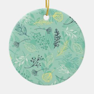 Ornamento azul do fundo | das ervas da floresta de