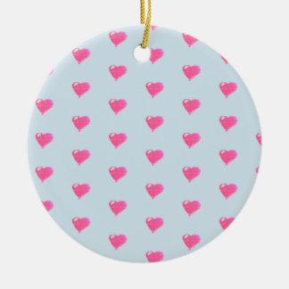 Ornamento azul do fundo dos corações cor-de-rosa