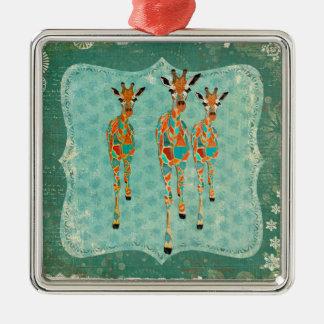 Ornamento Azure & ambarino dos girafas