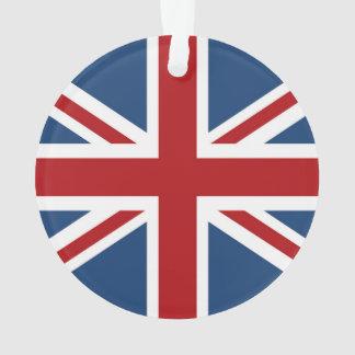 Ornamento bandeira clássica de Union Jack Reino Unido