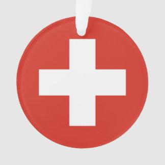 Ornamento Bandeira nacional da suiça