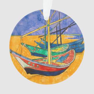 Ornamento Barcos de Vincent van Gogh impressionista