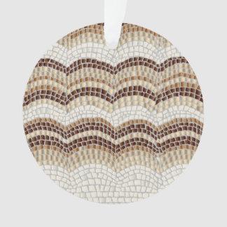 Ornamento bege do círculo do mosaico
