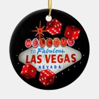 Ornamento bem-vindo de Las Vegas dos dados