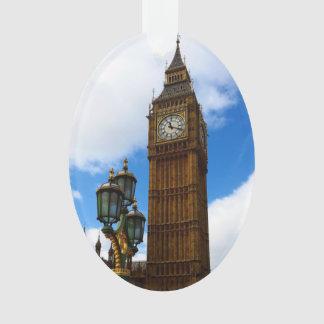 Ornamento Big Ben frente e verso