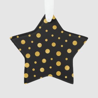 Ornamento Bolinhas elegantes - ouro preto