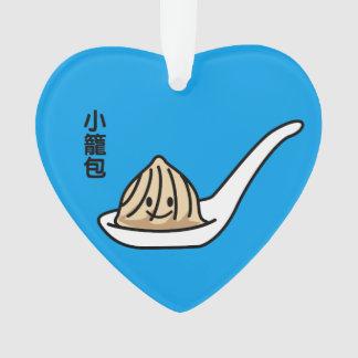 Ornamento Bolo chinês de Dim Sum da bolinha de massa da sopa