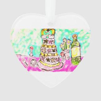 Ornamento bolo de casamento