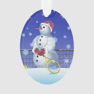 Ornamento Boneco de neve do tênis, boas festas